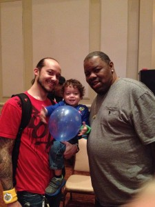 Biz Markee with Jacob and Caleb at Yo Gabba Gabba LIVE 11.7.14